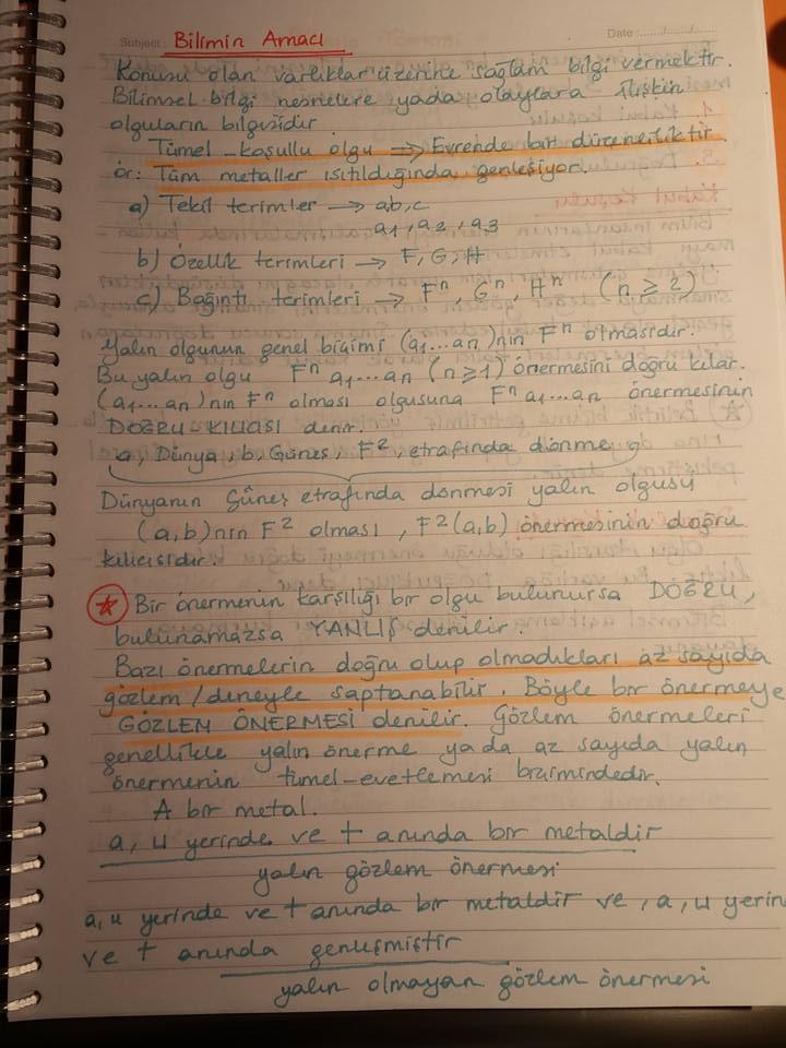 Bilim Felsefesi - Ünite 1 Ders Notları