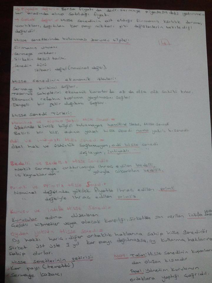 Finansal EkonomiÜnite 2 Ders Notları