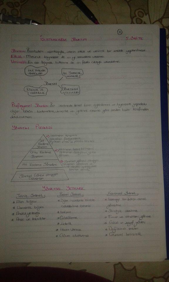 Genel İşletme - Ünite 5 Ders Notları
