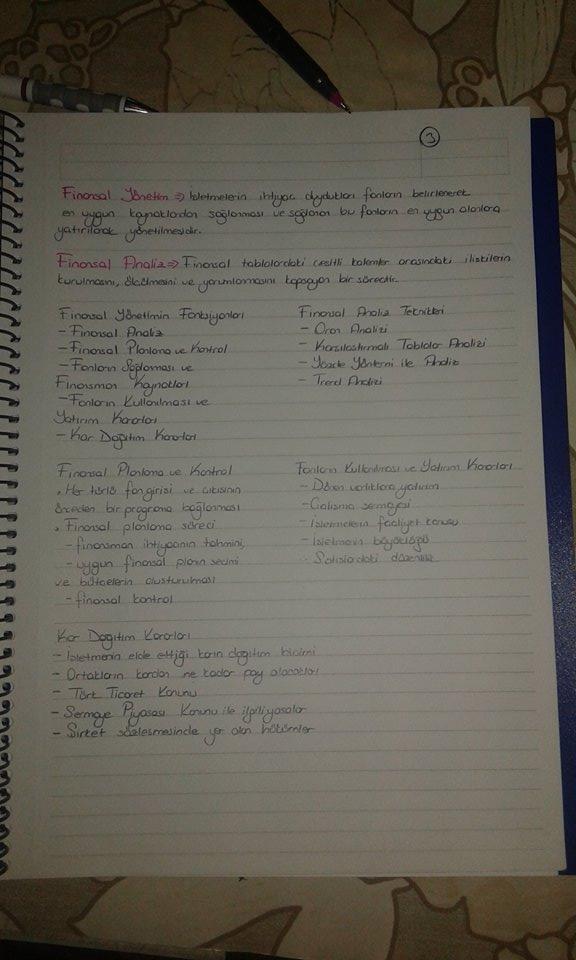 Genel İşletme - Ünite 8 Ders Notları