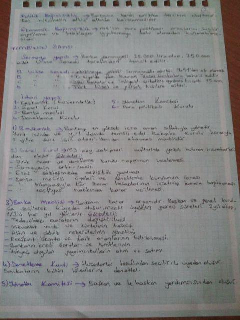 Para Politikası - Ünite 3 Ders Notları