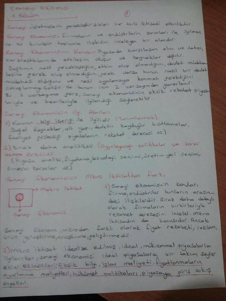 Sanayi Ekonomisi - Ünite 1 Ders Notları