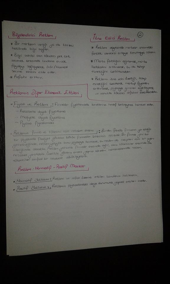 Sanayi Ekonomisi - Ünite 8 Ders Notları