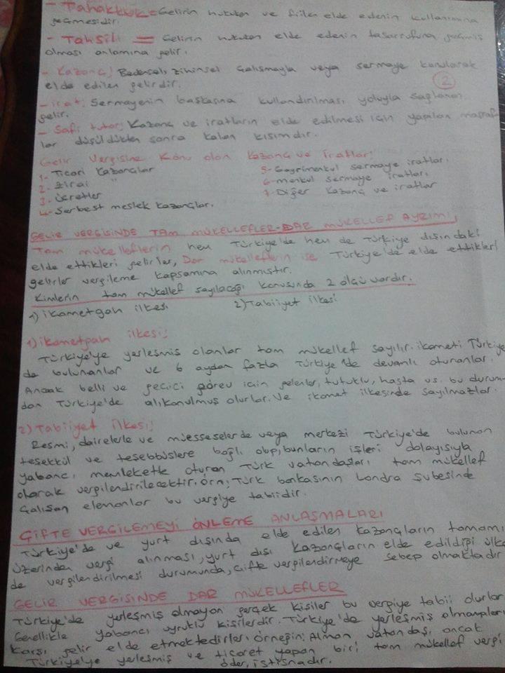 Türk Vergi Sistemi - Ünite 1 Ders Notları