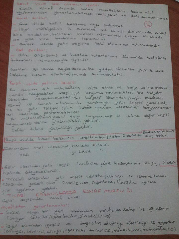 Türk Vergi Sistemi - Ünite 2 Ders Notları