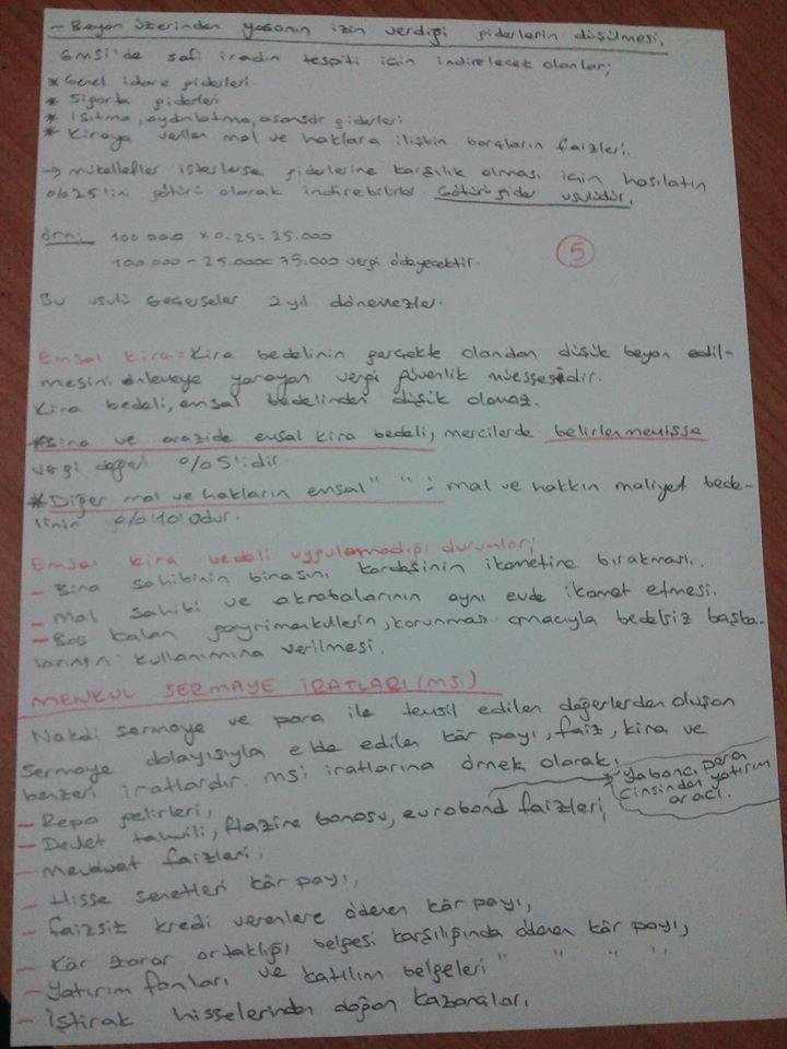 Türk Vergi Sistemi - Ünite 3 Ders Notları