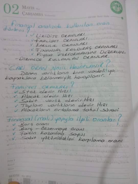 Finansal Yönetim - Ünite: 1-2-3-4 Ders Notları