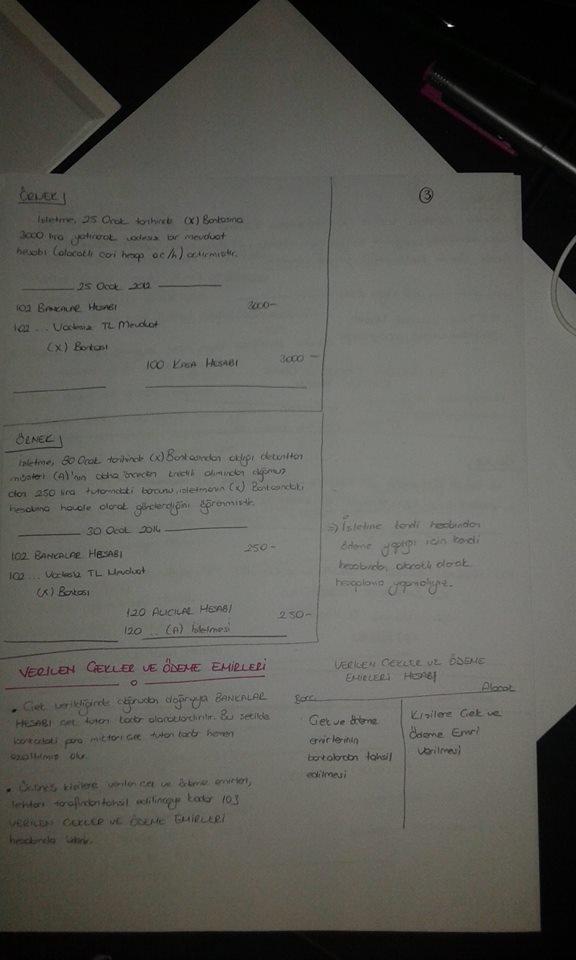 Genel Muhasebe - Ünite: 5 Ders Notları