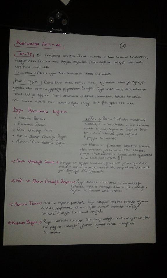 Genel Muhasebe - Ünite: 7 Ders Notları