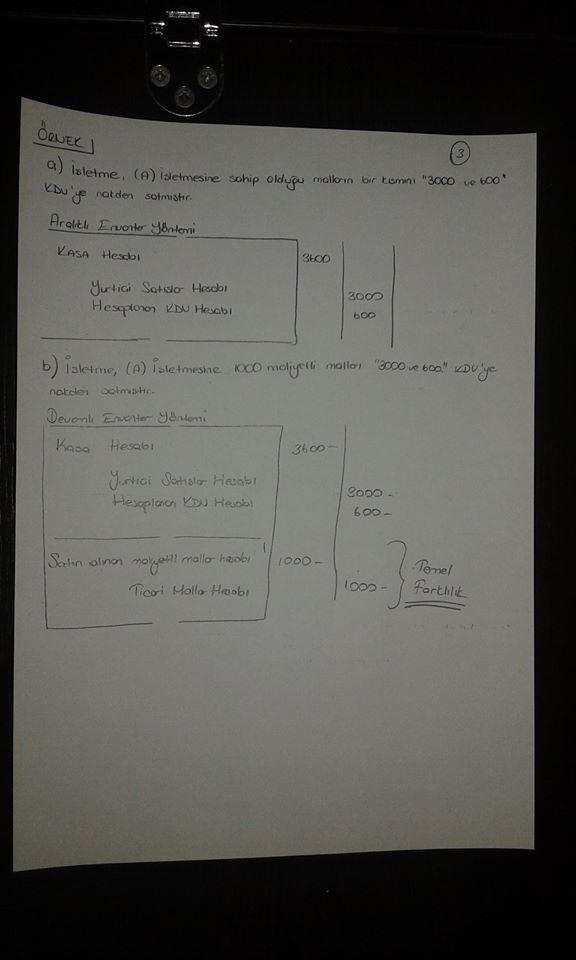 Genel Muhasebe - Ünite: 8 Ders Notları