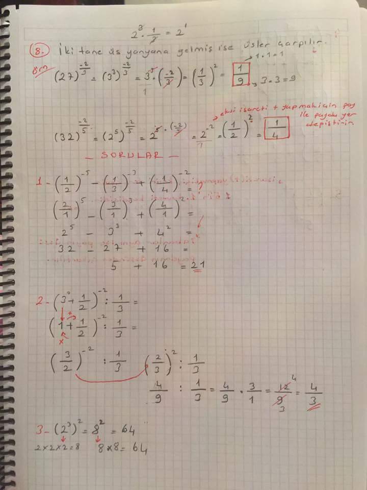 Matematik Ünite 1 Ders Notları