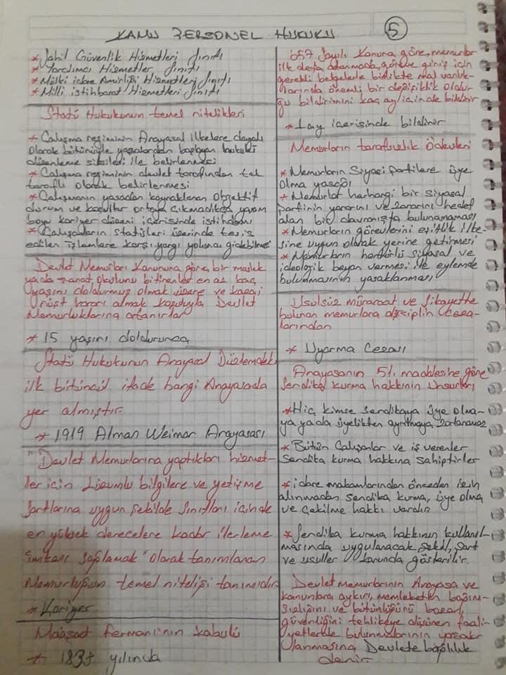Kamu Personel Hukuku - Ünite 1-4 Ders Notları