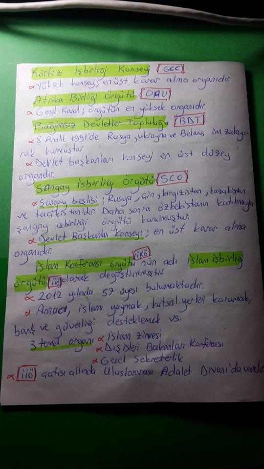 Uluslararası Örgütler Ders Notları