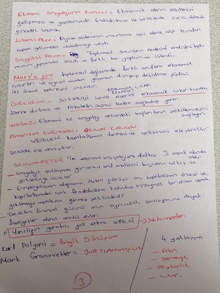 Ekonomi Sosyolojisi - Ünite 1 Ders Notu