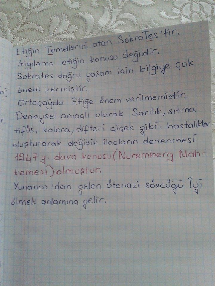 Etik - Ünite 1 Ders Notları