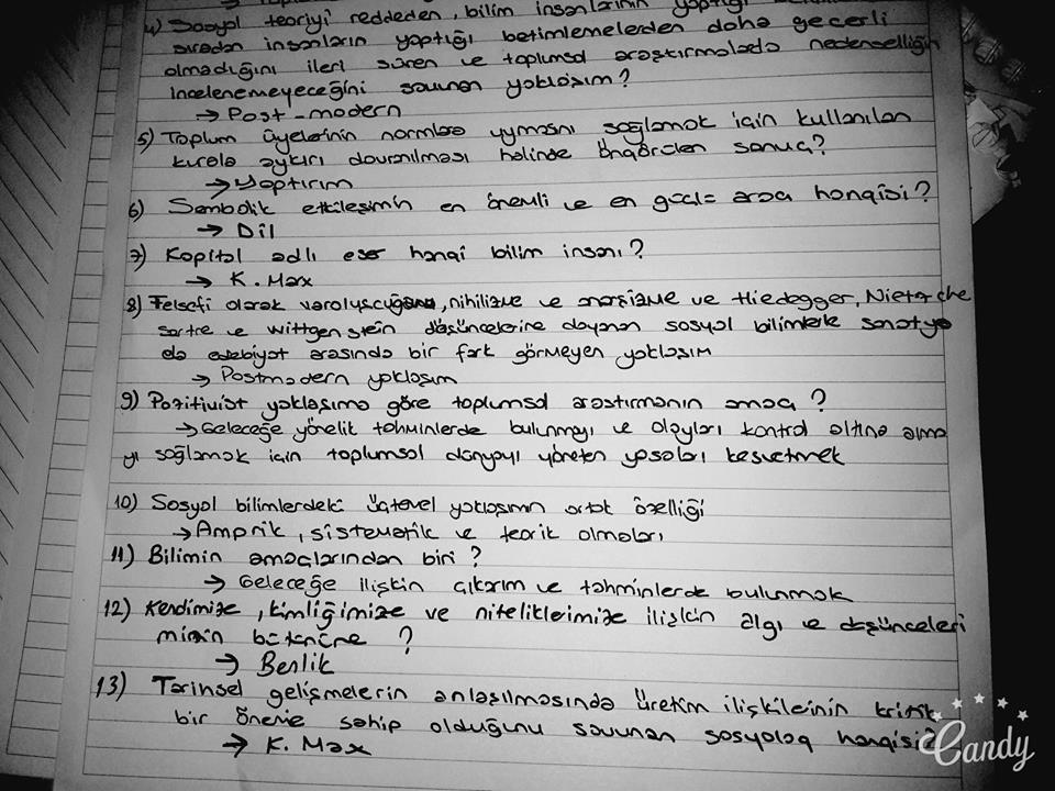 Sosyolojiye 1 Ders Notları