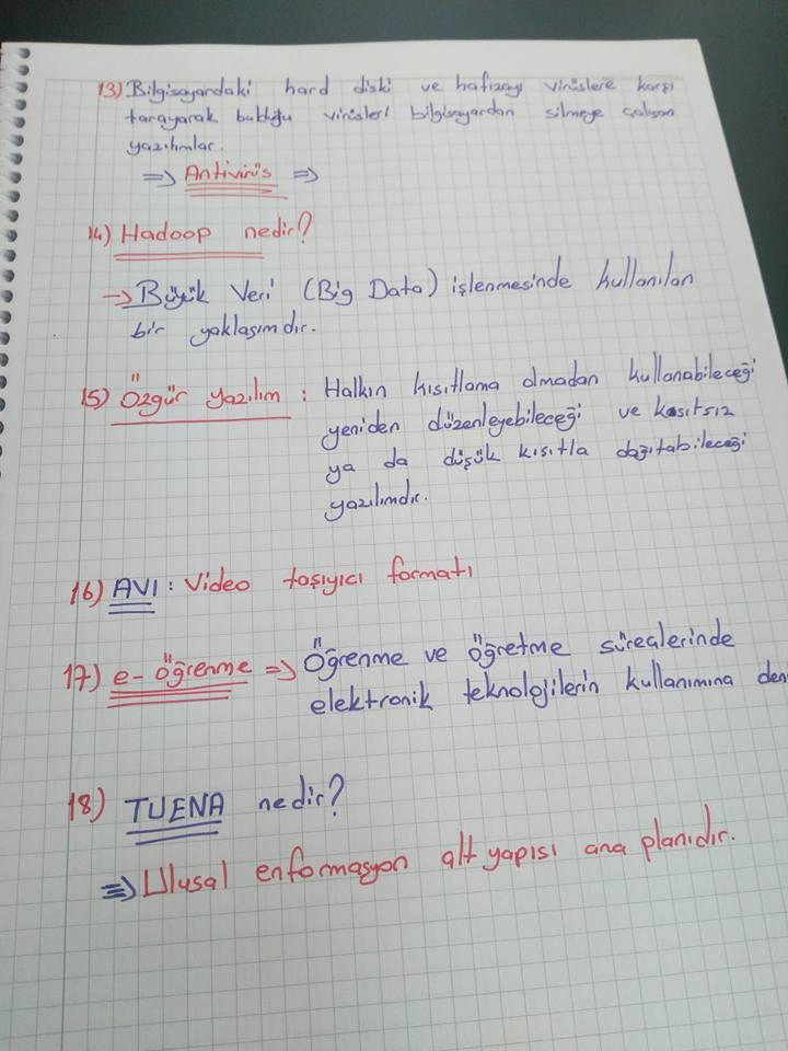 Temel Bilgi Teknolojileri 2 Ders Notları