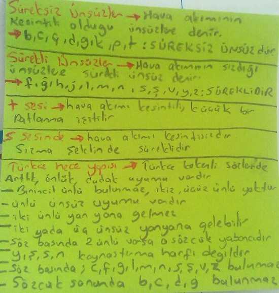 Türk Dili 4. Ünite Ders Notları