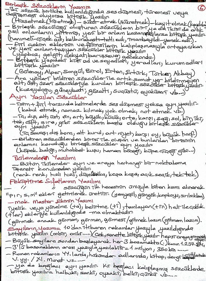 Türk Dili 2 Ünite 1-4 Ders Notları