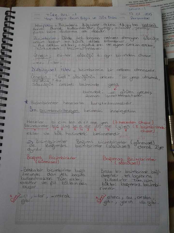 Türk Dili Ünite 1-2-3-4-5 Ders Notları